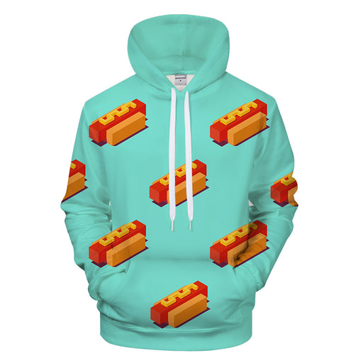 Vibrant Hot Dogs 3D - Sweatshirt, Hoodie, Pullover