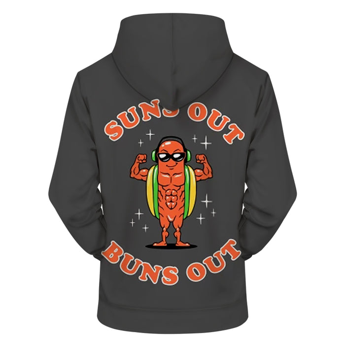 Buns Out 3D - Sweatshirt, Hoodie, Pullover