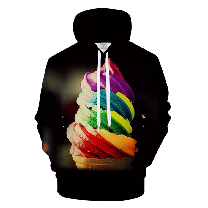 Rainbow Ice Cream 3D - Sweatshirt, Hoodie, Pullover