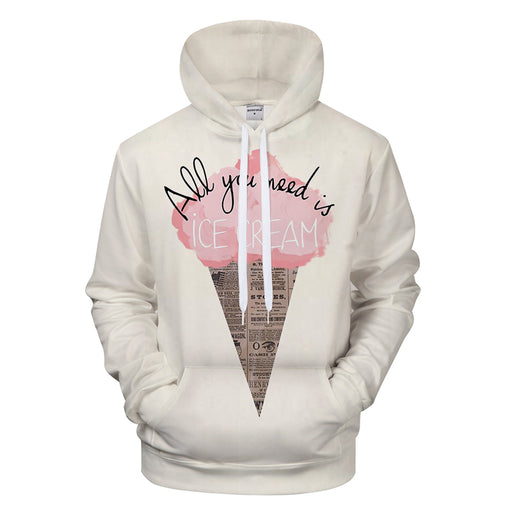Cotton Candy Ice Cream 3D - Sweatshirt, Hoodie, Pullover