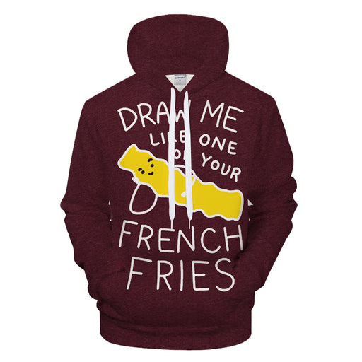 Funny French Fries 3D - Sweatshirt, Hoodie, Pullover