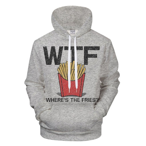 Where's The Fries 3D - Sweatshirt, Hoodie, Pullover