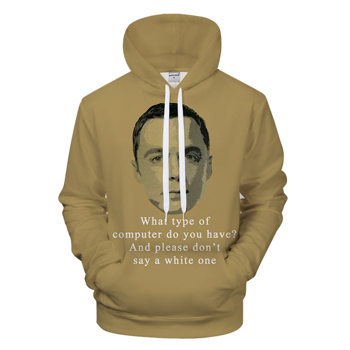 Sheldon Copper Geek 3D - Sweatshirt, Hoodie, Pullover