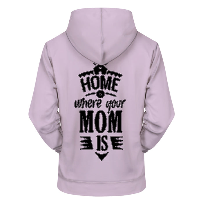 Home Is Mom Lavender 3D - Sweatshirt, Hoodie, Pullover