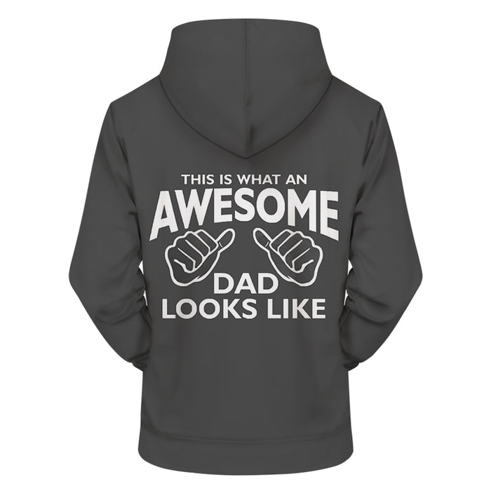 Awesome Dad 3D - Sweatshirt, Hoodie, Pullover