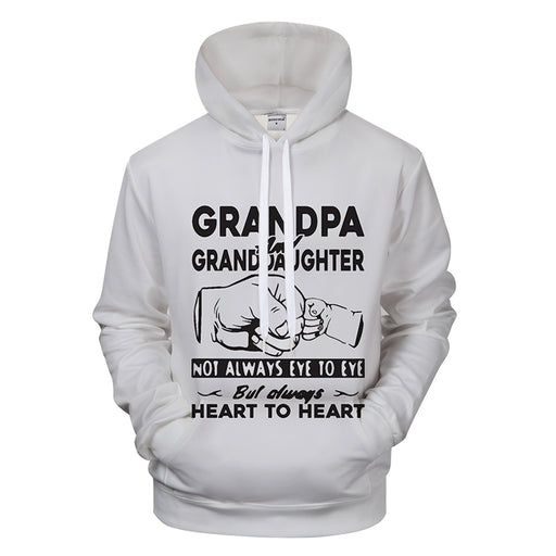 Grandpa & Granddaughter Love 3D - Sweatshirt, Hoodie, Pullover