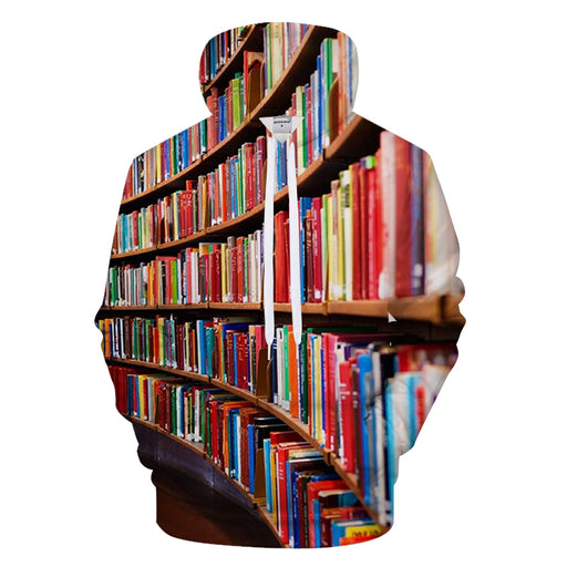 Rows Of Books 3D - Sweatshirt, Hoodie, Pullover