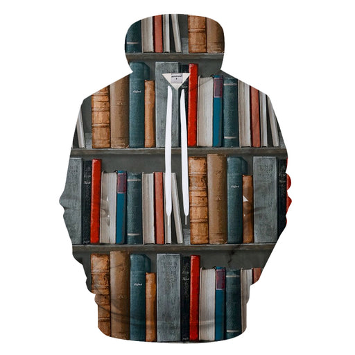 Books On A Shelf 3D - Sweatshirt, Hoodie, Pullover