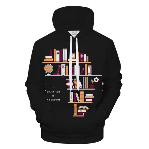 Education Is Freedom 3D - Sweatshirt, Hoodie, Pullover