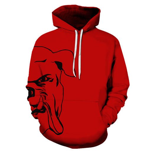 Angry Bull Dog 3D - Sweatshirt, Hoodie, Pullover