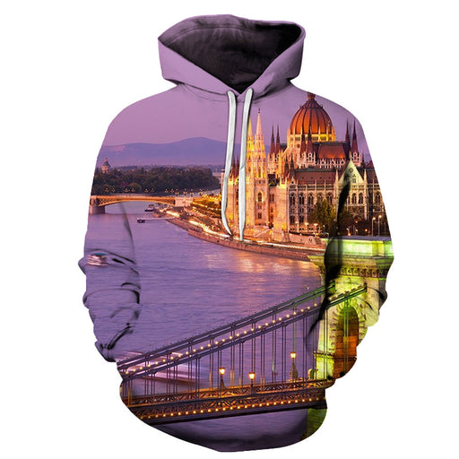 Beautiful Budapest 3D - Sweatshirt, Hoodie, Pullover