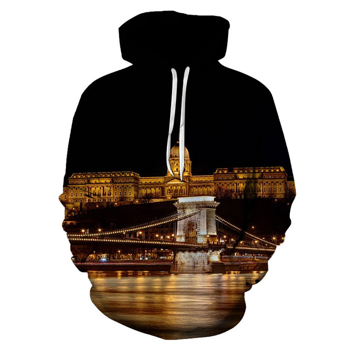 Hungary At Night 3D - Sweatshirt, Hoodie, Pullover