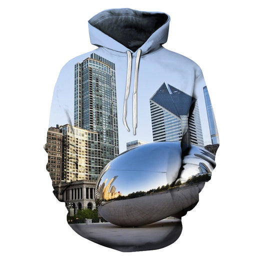 Sitting In Chicago 3D - Sweatshirt, Hoodie, Pullover