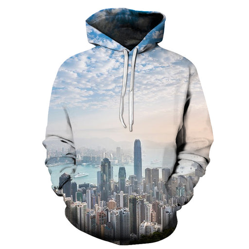 Buildings In Hong Kong 3D - Sweatshirt, Hoodie, Pullover