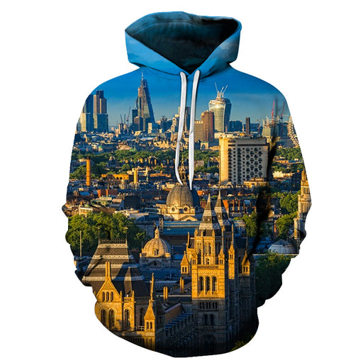 Eyes In London 3D - Sweatshirt, Hoodie, Pullover
