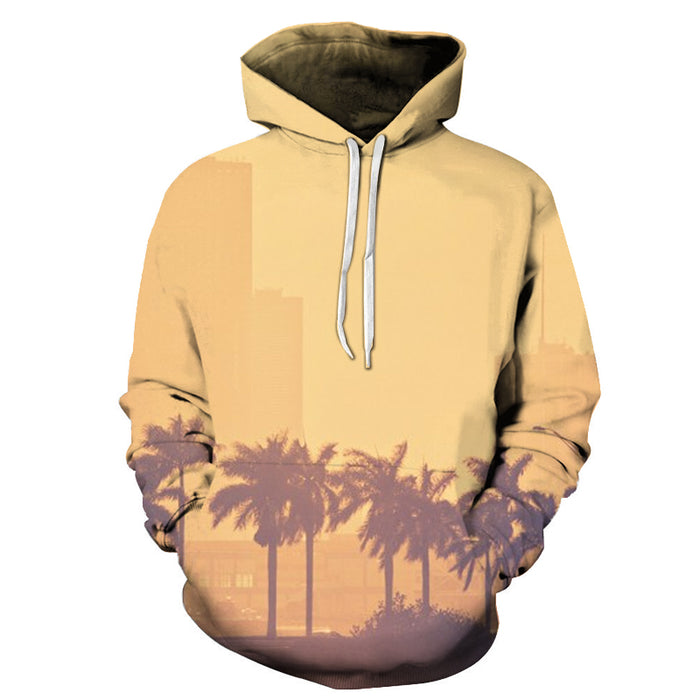 Miami Palm Trees 3D - Sweatshirt, Hoodie, Pullover