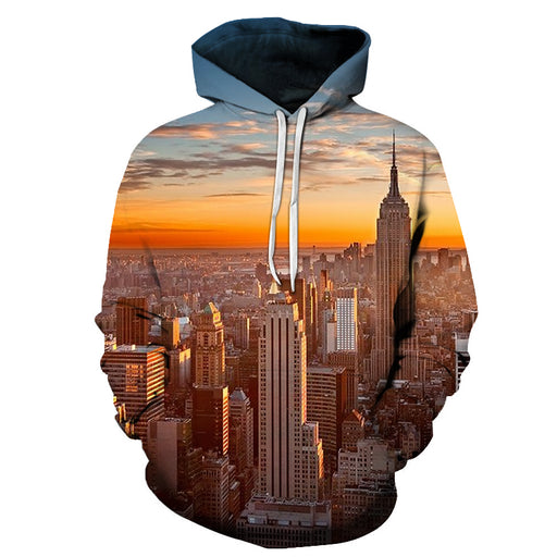 New York At Sunrise 3D - Sweatshirt, Hoodie, Pullover