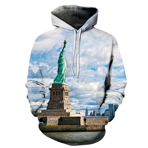 Liberty In New York 3D - Sweatshirt, Hoodie, Pullover
