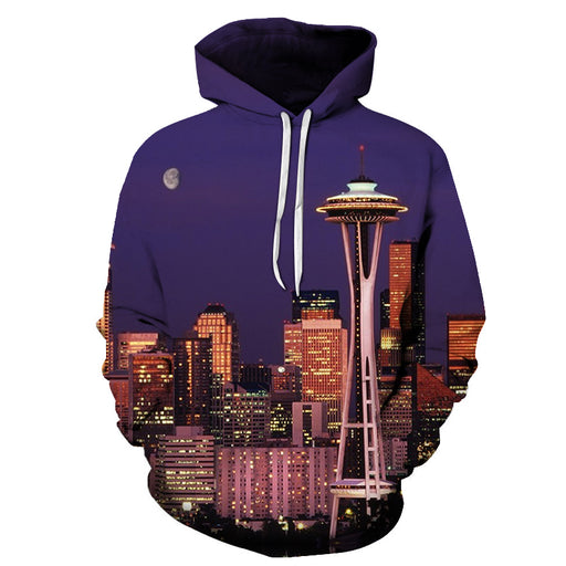Seattle Sky Needle 3D - Sweatshirt, Hoodie, Pullover