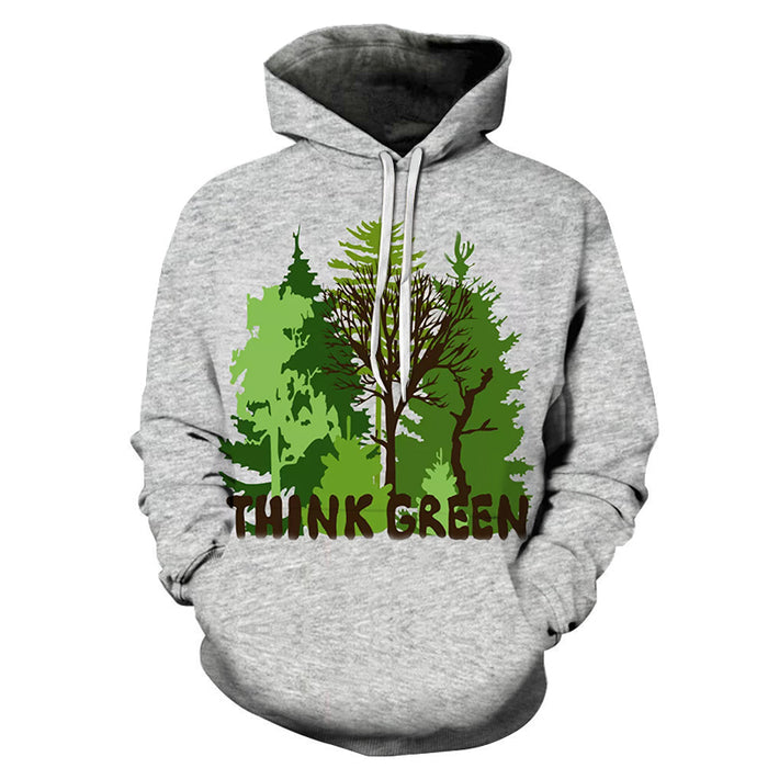 Think Green 3D Sweatshirt Hoodie Pullover