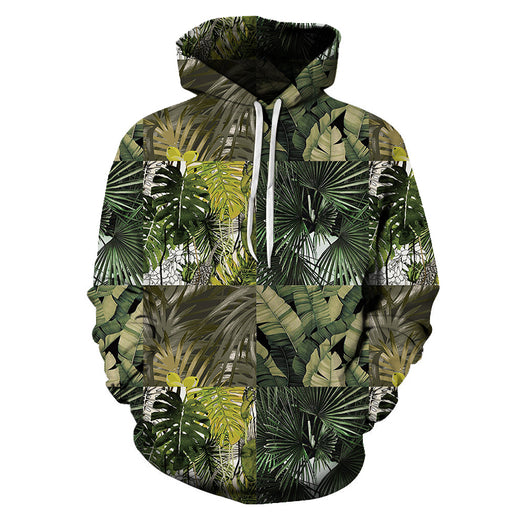 Green Leaves 3D Sweatshirt Hoodie Pullover