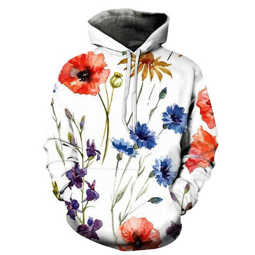 Peaceful Flowers 3D Sweatshirt Hoodie Pullover