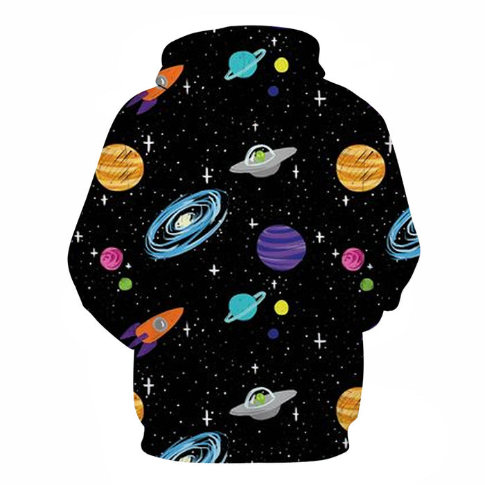 Outer Space 3D - Sweatshirt, Hoodie, Pullover