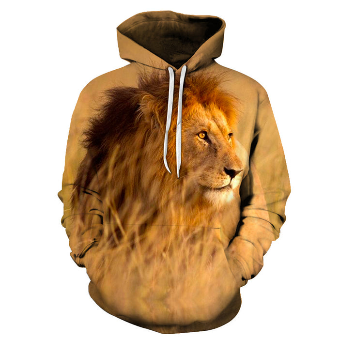 Golden Eye Lion 3D - Sweatshirt, Hoodie, Pullover