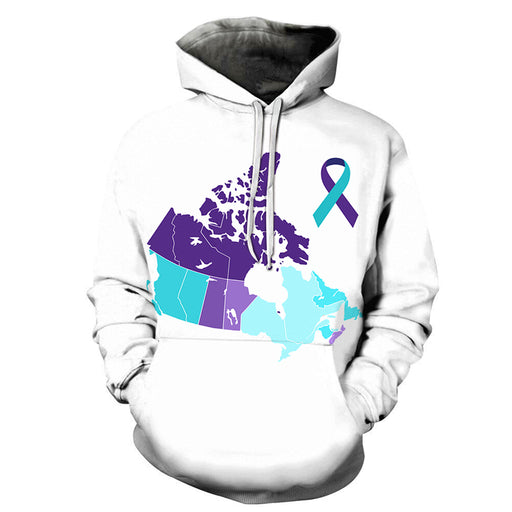 Canada Supports Mental Health 3D - Sweatshirt, Hoodie, Pullover