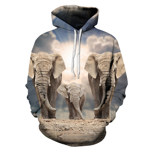 United Elephant Family 3D - Sweatshirt, Hoodie, Pullover