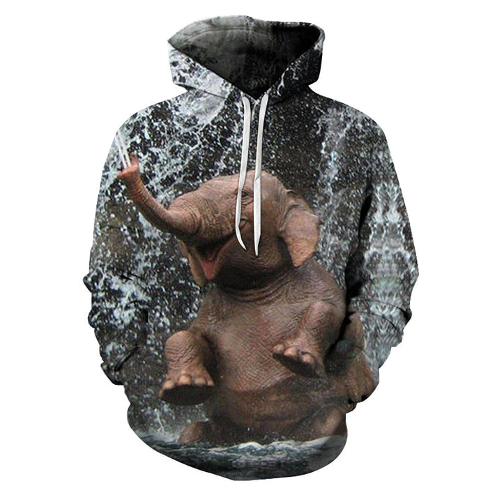 An Elephant Having Fun 3D - Sweatshirt, Hoodie, Pullover