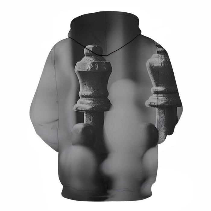 Black & White Chess 3D - Sweatshirt, Hoodie, Pullover