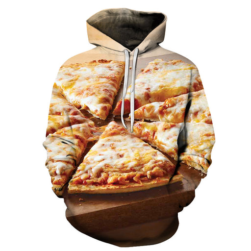 Thin Crust Cheese Pizza 3D - Sweatshirt, Hoodie, Pullover