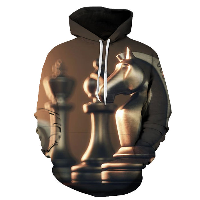 Knight Chess Piece 3D - Sweatshirt, Hoodie, Pullover