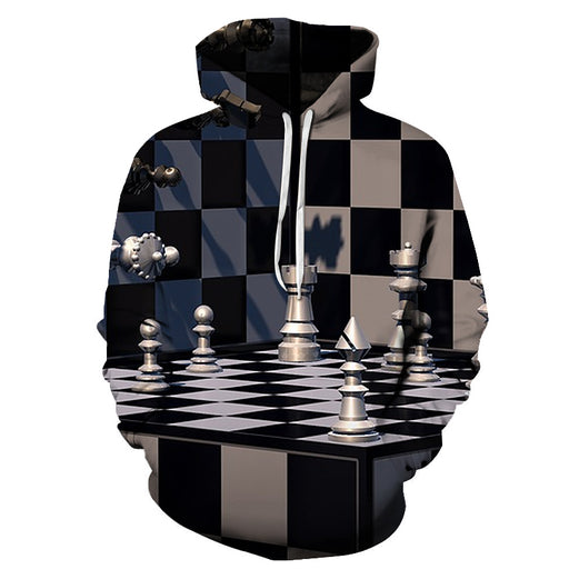Complicated Chess Board 3D - Sweatshirt, Hoodie, Pullover