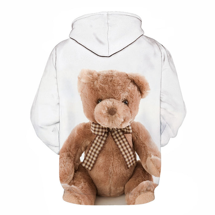 Teddy With A Bow Tie 3D - Sweatshirt, Hoodie, Pullover