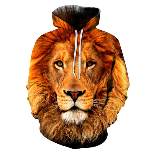Powerful Lion Face 3D - Sweatshirt, Hoodie, Pullover
