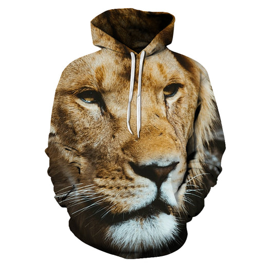 Hunter Lion Face 3D - Sweatshirt, Hoodie, Pullover