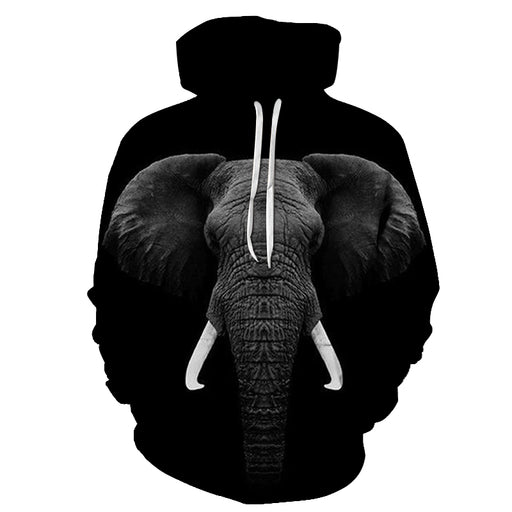 Regal Elephant Face 3D - Sweatshirt, Hoodie, Pullover