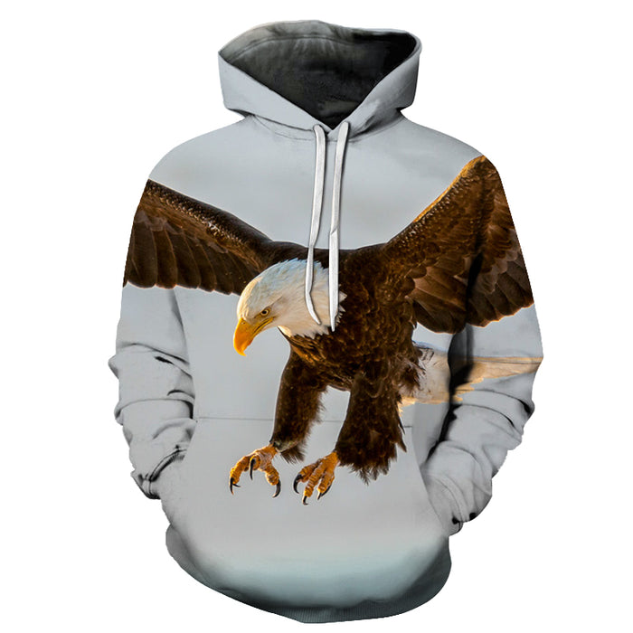 Eagle Bird Face 3D - Sweatshirt, Hoodie, Pullover