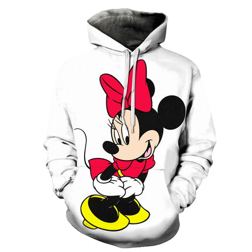 Happy Minnie Mouse Cartoon 3D - Sweatshirt, Hoodie, Pullover