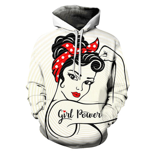 Fight Ready Girl Power 3D - Sweatshirt, Hoodie, Pullover