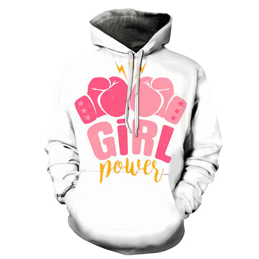 Boxing Gloves Girl Power 3D - Sweatshirt, Hoodie, Pullover