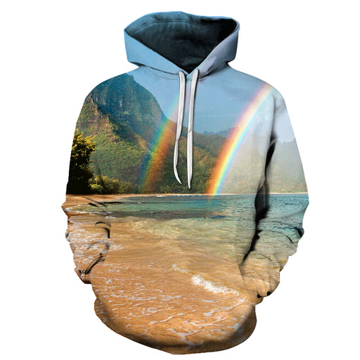 Rainbow At Hawaii Beach 3D - Sweatshirt, Hoodie, Pullover