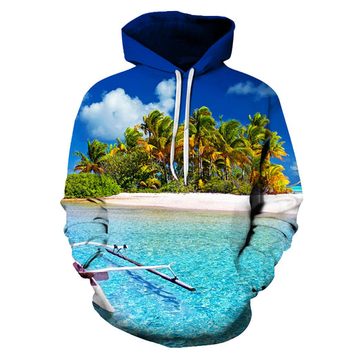 Beautiful Hawaii Beach 3D - Sweatshirt, Hoodie, Pullover