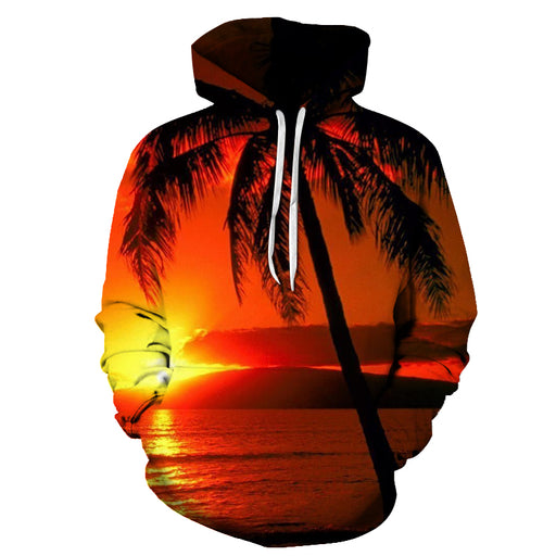 Sunset At Hawaii Beach 3D - Sweatshirt, Hoodie, Pullover