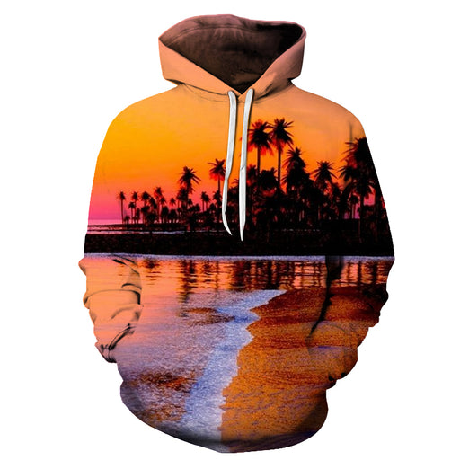 Dusk At Hawaii Beach 3D - Sweatshirt, Hoodie, Pullover