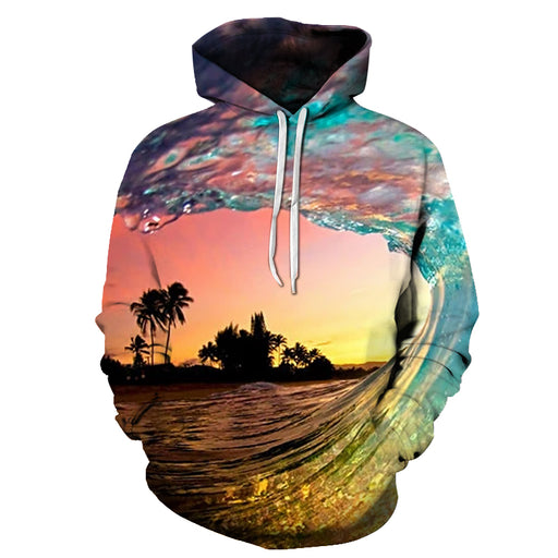 Waves At Hawaii Beach 3D - Sweatshirt, Hoodie, Pullover
