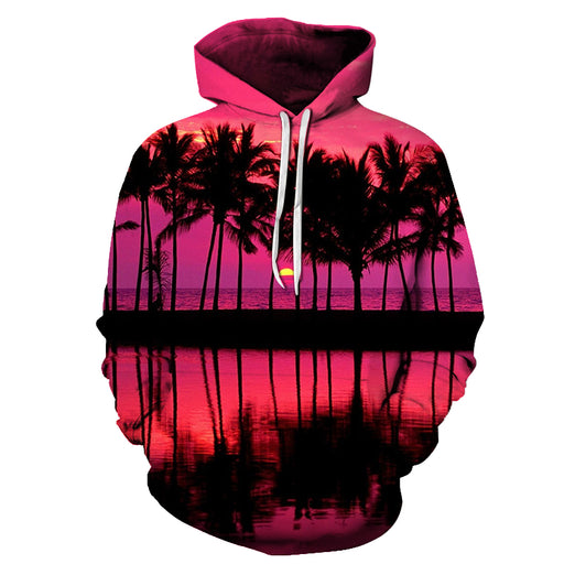 Beautiful Sunset At Hawaii Beach 3D - Sweatshirt, Hoodie, Pullover