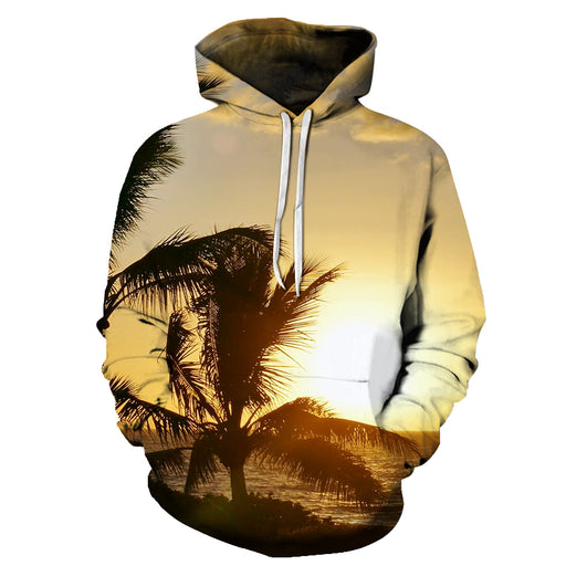 Sunset View At Hawaii Beach 3D - Sweatshirt, Hoodie, Pullover